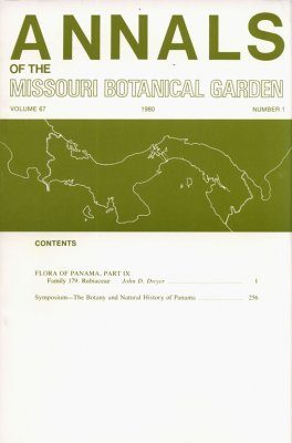 Annals of the Missouri Botanical Garden, Volume 67 (Number 1&2)