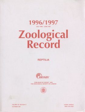Zoological Record, Volume 132 Section 17: Reptilia