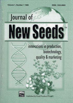 Journal of New Seeds: Volume 1, Number 1