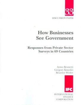 How Businesses See Government: Responses from Private Sector Surveys in 69 Countries