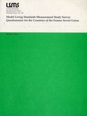 Model Living Standards Measurement Study Survey Questionnaire for ther C ountries of the Former Soviet Union