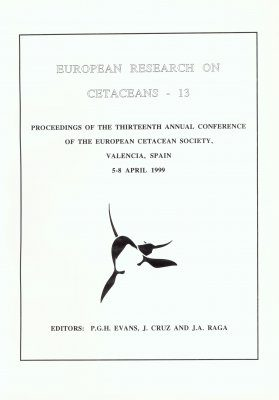 European Research on Cetaceans, Volume 13