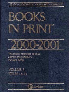 Books in Print 2000-2001