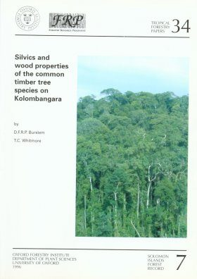 Silvics and Wood Properties of the Common Timber Tree Species on Kolombangara