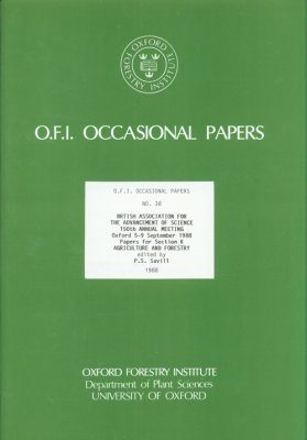 Papers for Section K: Agriculture and Forestry, 5-9 September 1988
