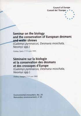Seminar on the Biology and the Conservation of European Desmans and Water Shrews