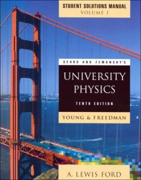 University Physics: Student's Solutions Manual, Volume 1