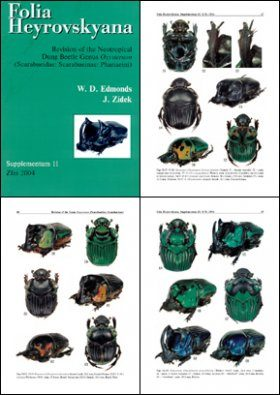 Folia Heyrovskyana, Supplement 11: Revision of the Neotropical Dung Beetle Genus Oxysternon (Scarabaeidae: Scarabaeinae: Phanaeini)