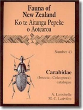 Fauna of New Zealand, No 43: Carabidae (Insecta: Coleoptera)