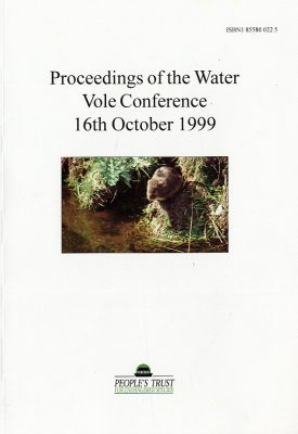 Proceedings of the Water Vole Conference 16th October 1999
