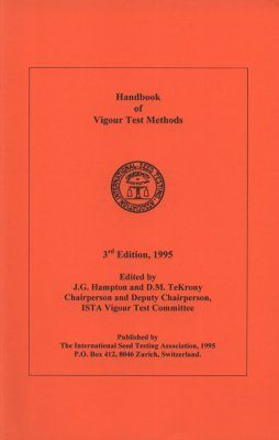 Handbook of Vigour Test Methods