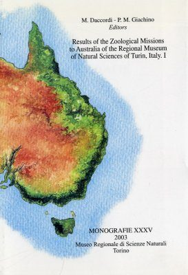 Results of the Zoological Missions to Australia of the Regional Museum of Natural Sciences of Turin, Italy - I