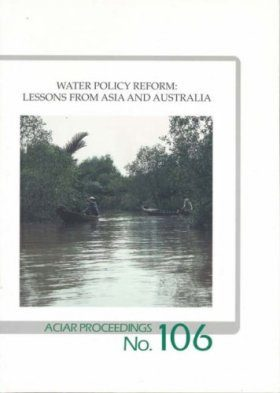 Water Policy Reform: Lessons from Asia and Australis