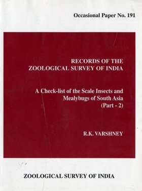 A Check List of the Scale Insects and Mealybugs of South Asia, Part 2