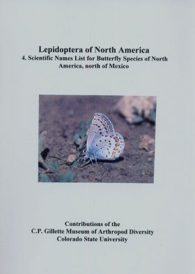 Lepidoptera of North America, Volume 4: Scientific Names List for Butterfly Species of North America, North of Mexico
