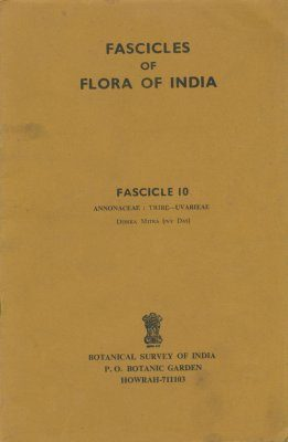Fascicles of Flora of India, Fascicle 10