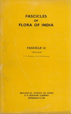 Fascicles of Flora of India, Fascicle 12