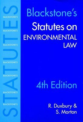 Blackstone's Statutes on Environmental Law