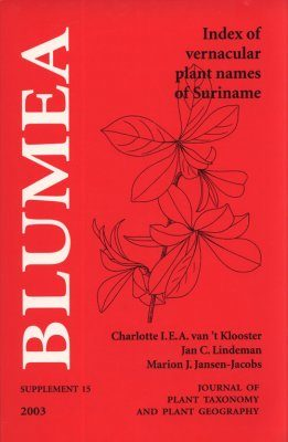 Index of Vernacular Plant Names in Suriname