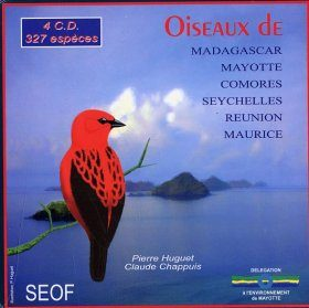 Bird Sounds of Madagascar, Mayotte, Comoros, Seychelles, Reunion, Mauritius and Rodrigues / Oiseaux de Madagascar, Mayotte, Comores, Seychelles, Reunion, Maurice (4CD)