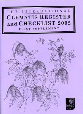 The International Clematis Register and Checklist 2002: First Supplement