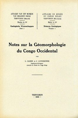 Notes Sur la Géomorphologie du Congo Occidental