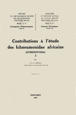 Contributions à l'étude des Ichneumonidae Africains (Hymenoptera) I