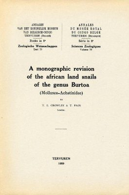 A Monographic Revision of the African Land Snails of the Genus Burtoa