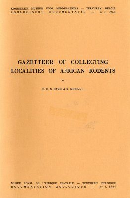 Gazetteer of Collecting Localities of African Rodents