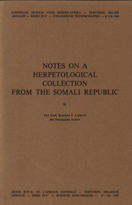 Notes on a Herpetological collection from the Somali Republic