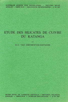 Etude des Silicates de Cuivre du Katanga [Study of Copper Silicates of Katanga]