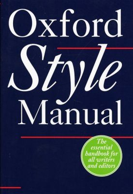The Oxford Style Manual
