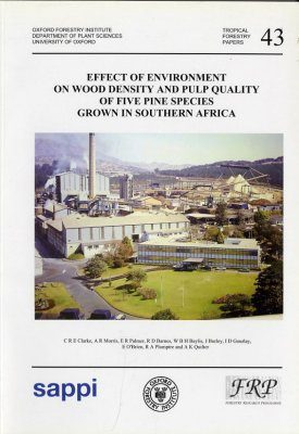 Effect of Environment on Wood Density and Pulp Quality of Five Pine
