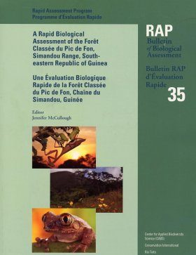 A Rapid Biological Assessment of the Foret Classee du Pic de Fon, Simandou Range, South-Eastern Republic of Guinea