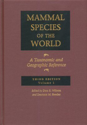 Mammal Species of the World (2-Volume Set)