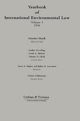 Yearbook of International Environmental Law, Volume 1, 1990