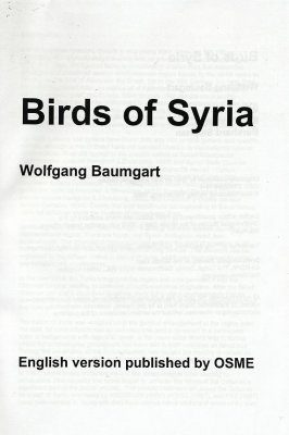 Birds of Syria