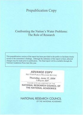 Confronting the Nation's Water Problems