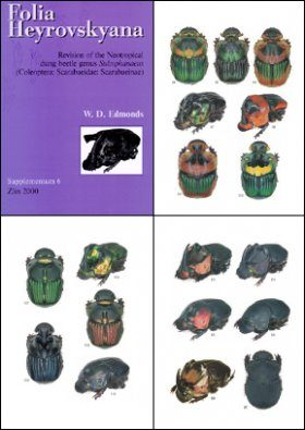 Folia Heyrovskyana, Supplement 6: Revision of the Neotropical Dung Beetle Genus Sulcophanaeus (Coleoptera: Scarabaeidae: Scarabaeinae)