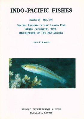 Second Revision of the Labrid Fish Genus Leptojulis, with Descriptions of Two New Species