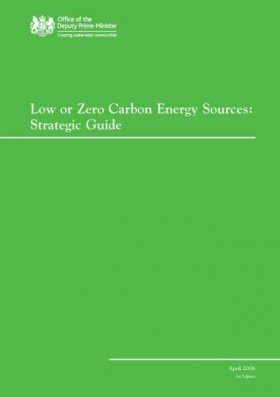 Low or Zero Carbon Energy Sources
