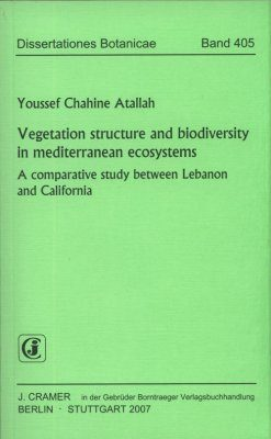Vegetation Structure and Biodiversity in Mediterranean Ecosystems