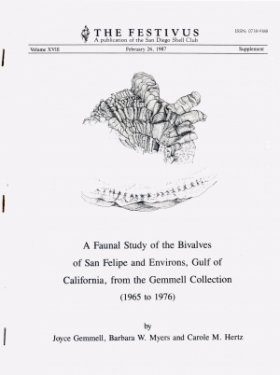 A Faunal Study of the Bivalves of San Felipe and Environs, Gulf of California, from the Gemmell Collection (1965 to 1976)