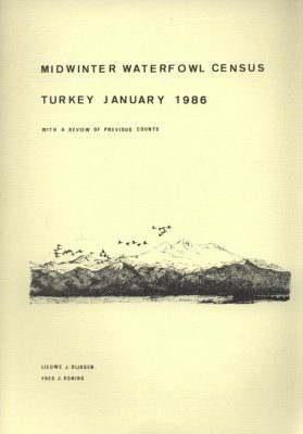 Midwinter Waterfowl Census Turkey January 1986
