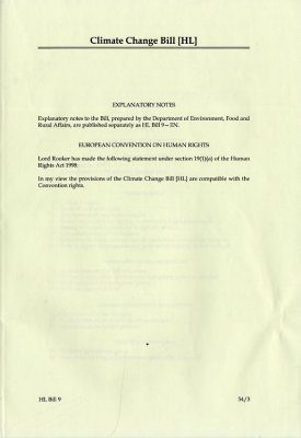 Climate Change Bill (HL): House of Lords Bills 2007-2008