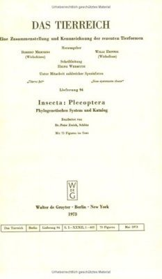Insecta: Plecoptera. Phylogenetisches System und Katalog