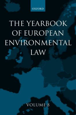 The Yearbook of European Environmental Law, Volume 8