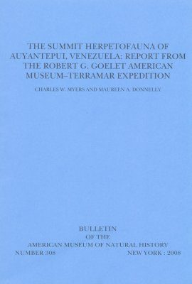 The Summit Herpetofauna of Auyantepui, Venezuela