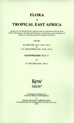 Flora of Tropical East Africa: Acanthaceae, Part 1