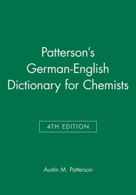 Patterson's German-English Dictionary for Chemists